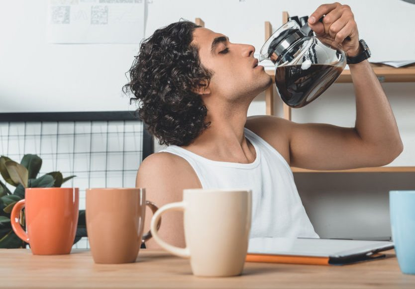 Underwear and coffee