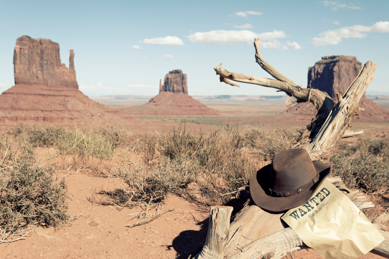 Cowboy hat and Monument Valley